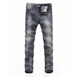 Preço da calça jeans on-line-Calça cinza masculina Calça jeans Denim Calça furada Novo produto 2019 Preços no atacado moda Pretty Cool Bandnine de três cores