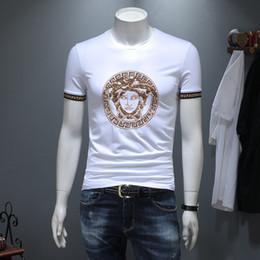 Canada T-shirt brodé d'été MDS de la station européenne European Cotton Under Bottom Shirt noir et blanc cheap men under wear t shirts Offre