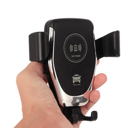 Kablosuz Araç Şarj 10 W Hızlı Kablosuz Şarj Araç Montaj Hava Firar Yerçekimi Telefon Tutucu iphone samsung tüm Qi Cihazları için Uyumlu nereden cep telefonu şekerlemeleri tedarikçiler