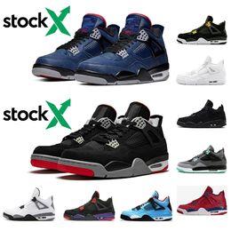 2020 ретро 4s nike air jordan retro 2019 мода 4 мужская баскетбольная обувь 4S UNC LA Bred Space Jam Tour синий черный Антрацит спортивные тренеры кроссовки размер 7-13 скидка ретро 4s