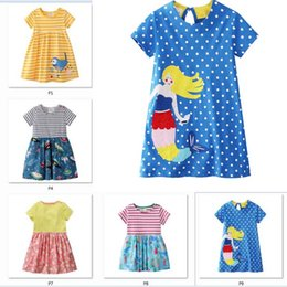 Девушки летнее платье с аппликациями животных европейский американский стиль платье принцессы цветочные платья принцессы дизайнер детской одежды C33 cheap european designer girls dress от Поставщики европейское дизайнерское платье для девочек