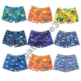 Pantalon de requin garçons en Ligne-Enfants Bébés Garçons Maillot de bain Short de plage Enfants Maillots de bain Maillots de bain pour garçons d'été Maillots de bain Shark Stripe Short de bain Pantalons Maillots de bain Enfants