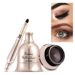 Linee di occhio marrone nero online-UCANBE Eyeliner Eyeliner Makeup Intense Gel Sopracciglio Waterproof 24H Long Lasting Eye Liner Nero Natural Brown Tattoo Beauty Bell