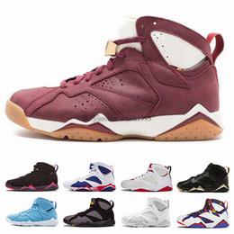 zapatos cardinales Rebajas Nike Air Jordan 7 7s Hombres Zapatillas de baloncesto Hombres Raptor Guyz Hares Olímpico Burdeos GG Cardinal Raptor Zapatillas de deporte francesas azules cítricas Zapatillas