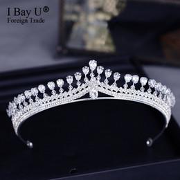 Argentina Nueva vendimia de múltiples capas de lujo de plata de cristal tiara nupcial corona boda accesorios para el cabello joyería nupcial del partido grandes diademas Suministro