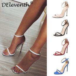 1b32fad4855a06 Fashion Classics Marke ZA R Peep Toe Schnalle Stiletto High Heels Sandalen  Schuhe Frau Blau Weiß Rot Hochzeitsschuhe 43 günstig blaue stiletto -ferseschuhe