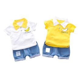 2019 ricamo dei jeans del bambino La maglietta e il pantalone di jeans con ricamo di frutta e bigiotteria sono adatti per i bambini ricamo dei jeans del bambino economici