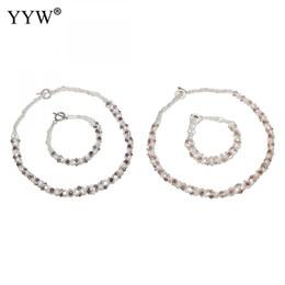 natürliche perlenschmucksachen Rabatt Natürliche Süßwasserzuchtperlen Schmuck Sets Armband Halskette für Frauen