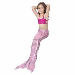 Brave 4 Pieces Mermaid Tails For Girls Swimming Kids Mermaid Costumes Swimmable Children Swimwear Zeemeerminstaart Met Monofin Cosplay Mother & Kids
