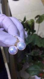 fil étoile rouge Promotion magnifique boucle d'oreille ronde en perles de mer du sud 10-11 mm, 18 carats