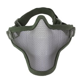 steel tactical mask Coupons - Half Lower Face Metal Steel Net Mesh Hunting Tactical Protective Mask Gofuly