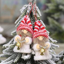 Плюшевая рождественская елка санта онлайн-Креативный подарок праздник елка украшение Рождество Плюшевые Санта Старец куклы украшения творческий подарок Xmas Tree Украшение SH190918