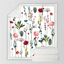2020 amo cobertor rosa Flores Sherpa Blanket para florais rosa camas macias cama meninas jogam Blanket Planta Folha Fluffy Blanket presente do amor desconto amo cobertor rosa