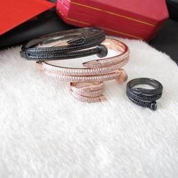 2019 anillo de jade indio Venta al por mayor nuevo cobre cubic zirconia brazalete pavimentado 18K oro amarillo / oro blanco plateado pulseras y anillos conjuntos de joyas de fiesta para mujeres