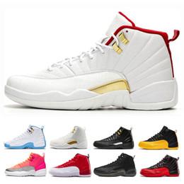Chaussures de basket chaudes pour hommes en Ligne-Top 12 FIBA Hommes Chaussures de basket Designer 12s hommes Gym rouge gris jeu Université Royale d'or chaud noir punch Sport Entraîneur Chaussures de sport