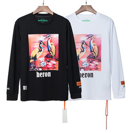 t-shirts lange hülse orange männer Rabatt Beste Version Heron Preston Frauen Männer Pink HeronPrinted T-Shirts T-Shirts Hiphop aus übergroßen Baumwolle Langarm T-Shirt weiß