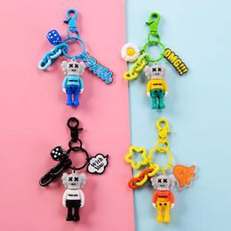 Sesame Street KAWS sospensione Dolls Giocattoli di portachiavi con ciondoli catena chiave per il sacchetto dell'automobile di trasporto Pendente libero da
