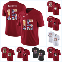 faef0141331 Mens Alabama Crimson Tide NCAA Jersey 15 Ronnie Harrison 14 Barack Obama 12  Joe Namath 11 Henry Ruggs III 10 A.J McCarron Football Jerseys