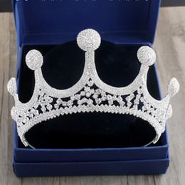 CHAUD Européen Royal Mariée Cristal Couronne Tiara Mariage De Luxe Décorations De Cheveux Argent Strass Grandes Couronnes De Mariée Diadem ML629 C18112001 ? partir de fabricateur