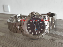 pré possuído Desconto 2 cores de luxo 116622 aço platina 40mm yachtmaster cinza mostrador azul mão pre possuído ásia 2813 movimento automático mens watch folding mec
