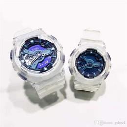 Designer relógios Transparente banda silicone relógio de ouro Data LED Digital Calendário Choque Resista Casal Relógio de pulso de