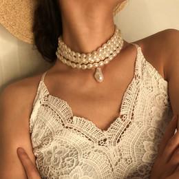 2019 koreanische perlen halskette Perlenkette für Frauen 2019 Art- und Weiseperlen-Korn-Chokerhalsketten-koreanische Dame Collar Decoration auf der Ansatz-Frau Freies Verschiffen günstig koreanische perlen halskette