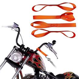 correia macia da motocicleta Desconto 4PCS macias Loops Carro Motocicleta reboque Cordas Acessórios para automóvel Interior Tie Down cintas Ornamentos Motocross Motorbike Decoração