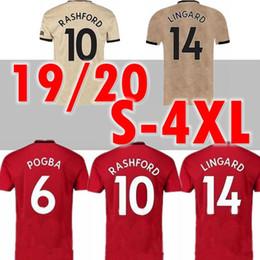 XXL 3XL 4XL Tailândia POGBA LINGARD 19 20 futebol manchester united jerseys utd 2019 2020 marcial Rashford futebol kit camisa MARCIAL de