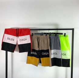 2019 Brand Fashion Designer di lusso Best-seller Bale Fashion Alphabet Stampato Hip-hop pantaloni da cinque minuti Yeezus Jogging pantaloni caldi da