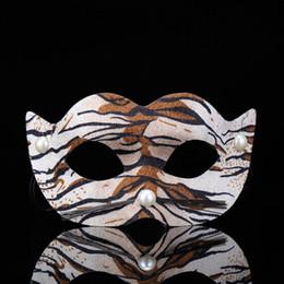 Novos animais sexy girls on-line-Senhoras Meninas New Animal Leopard Máscara de Olho Sexy Masquerade Half-face Fancy Dress para o Dia Das Bruxas Bachelorette Partido Suprimentos