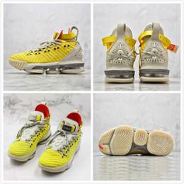 Rendas em relevo on-line-Zoom Estrela De Basquete J XVI 16 James White Yellow Em Relevo Lion Lakers Sapatos de Basquete Dos Homens Ao Ar Livre Sports Trainer Sapatilha Sapatos de Grife