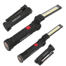 Luci magnetiche portatili online-Luci pieghevole luce del lavoro COB LED riflettore portatile ricaricabile magnetica della torcia elettrica della lanterna di emergenza di riparazione della lampada di ispezione