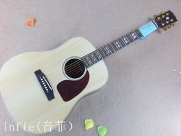 Neue akustische akustikgitarren online-Freies Verschiffen Akustikgitarre des neuen G-Naturholz-gezierten Körpers