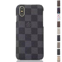 2019 couverture iphone grossiste Cas de téléphone de luxe en cuir PU Design Designer pour IPhone X XS MAX XR 6S 6 7 8 plus protéger Shell cas de téléphone portable couverture arrière