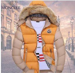 Крокодил онлайн-Оптовая продажа-мужчины зимнее пальто меховой воротник утка вниз куртка Куртка мужская Фугу с меховым капюшоном Кролик Deisgner теплые пальто бренд женщин