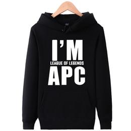 Lol hoodie онлайн-Я APC толстовки слова дизайн пот рубашки группа lol работа флис одежда пуловер кофты спорт пальто открытый куртки
