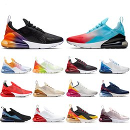 Viola top donne online-Nike Air Max 270 Bred Regency Purple Running Shoes Men Women OG Orange Volt Triple Black Summit White RAINBOW Teal Outdoor Mens Trainers Sneakers