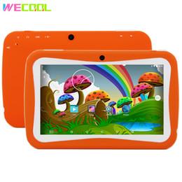 App tablet pc online-WeCool Tablet PC de 7 pulgadas para niños diseñado para niños 8GB Quad Core Android MID lotes de APLICACIÓN de juegos educativos para niños