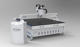 Enfriador de agua cnc online-3.2kw husillo refrigerado por agua cnc router 2030 mdf máquina de corte de madera cnc