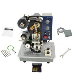 Semi elettrico di timbratura caldo automatico Data Stampante Coder colore della macchina del nastro Printing Tool Hot Foil Coder da maniche in metallo fornitori