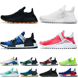 Adidas NMD Human Race pharrell williams Luxury Designer Women Shoes Red Bottoms with box Pumps High Heels Black Nude Pointed Toe Dress Wedding Shoes