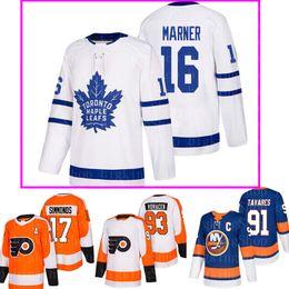 2019 autêntica camisa de hóquei nhl Toronto Maple Leafs 16 Mitch Marner Philadelphia Flyers 17 Wayne Simmonds 28 Claude Giroux 53 Shayne Gostisbehere 93 Jakub Voracek