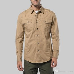 zwingt uniformen Rabatt Herbst und Winter 2019 Langarmhemd Herren Freizeithemd Large Air Force No. 1 Militäruniform Baumwolle Large Shirt 5XL für Männer 17203