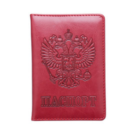 Russian Blue Pu Leather Double-headed Eagle Emblem Card Holder Bag Travel Built In Rfid Blocking Protect Personal Information Coin Purses & Holders