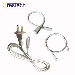 2019 dénuder les fils Bande de câble de rallonge d'alimentation de 6FT 180cm pour LED T5 T8 T10 T12 tube de lumière, câble de câble d'alimentation, cordon d'alimentation de tube us dénuder les fils pas cher