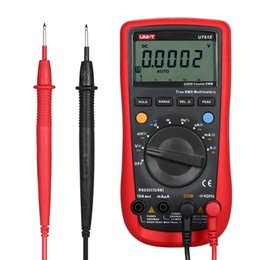 uni t tester Rebajas Probador del multímetro digital de mano comprobador eléctrico LCD moderno de pantalla del amperímetro Multimetro Multitester sonda UNI-T UT61E