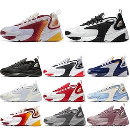 2020 calcetines azules baratos Nike Con calcetines Barato Hombres Mujeres Zoom 2K M2K Zapatos para correr Blanco Negro Azul Hombres Zapatillas de deporte Zapatillas de diseñador Zapatos casuales cómodos calcetines azules baratos baratos