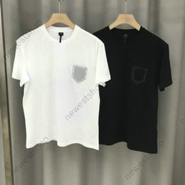 2020 top hombres diamante camisetas summer Luxury Designer for Men T shirt Clothing Tshirt diamond embroidery letter badge Fashion T shirts tshirts High Quality Casual Tops tee rebajas top hombres diamante camisetas