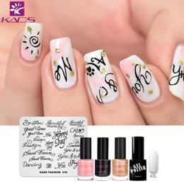Kit di timbratura per unghie online-KADS lettera design nail art stamping piastra SET Nail Template Piatti Template Piatti Stamping Plate Polish Stencil