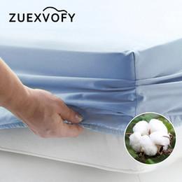 lastre di orchidee Sconti Lenzuolo coprimaterasso in massello di puro cotone di lusso con lenzuola elasticizzate Lenzuolo Biancheria da letto Coprimaterasso 160x200 bianco